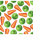 carrot apple vector image vector image