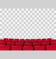 cinema seats isolated vector image vector image