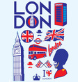 collection of london icons vector image