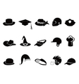 Collection of various black hat silhouettes vector | Price: 1 Credit (USD $1)