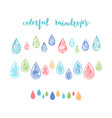 colorful raindrops vector image vector image