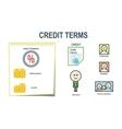 Credit terms schem presentation vector image