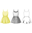 cute female dress on white background vector image vector image
