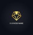 diamond triangle shape line gold logo vector image vector image