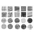 drawings hatching sketch vector image vector image