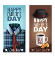 fathers day banners vector image vector image