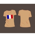 France flag shirt football soccer ball vector image