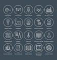 geodetic survey engineering flat line icons vector image vector image