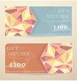 Gift voucher design vector image