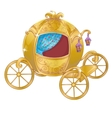 Gold Carriage For Cinderella vector image vector image