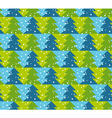 Green and blue color Christmas seamless pattern vector image