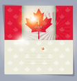 Happy Canada Day card or background July 1 vector image