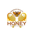 honey bee and dipping stick product icon vector image vector image