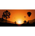 Hot Air Ballon Ride During Sunset vector image vector image