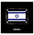 israel flag design vector image