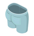 jeans icon isometric 3d style vector image vector image