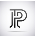 logo for letter P Design template vector image vector image