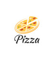 logo pizza on a white background vector image vector image