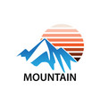 mountain traveling business logo vector image vector image