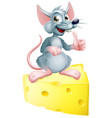 mouse and cheese vector image
