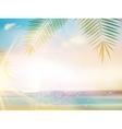 Palms on empty idyllic tropical sand beach vector image