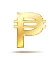 philippine peso currency symbol vector image