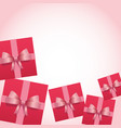 pink frame with giftboxes vector image vector image