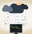 Rain Forex vector image vector image