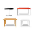 realistic detailed 3d different table set vector image vector image