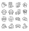 rental real estate auto mobil icons set vector image vector image