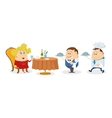 Restaurant woman waiter and cook vector image