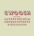 retro style font design vector image vector image