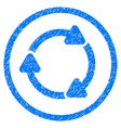 rotate cw rounded grainy icon vector image vector image