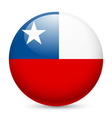 Round glossy icon of chile vector image vector image