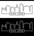 san jose skyline linear style editable file vector image vector image