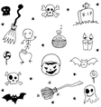 Scary halloween doodle element vector image vector image
