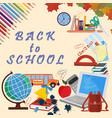 school theme design of school subjects and vector image