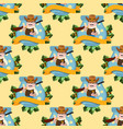 seamless pattern for design surface with sheriff vector image
