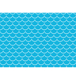 Seamless sea pattern White scales on blue vector image