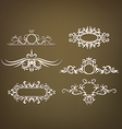 Set ornaments with floral elements vector image