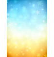 snowy blurred background vector image vector image