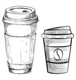 takeaway cup for coffee arabic beverage vector image