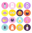 Trendy Halloween Circle Icons Set vector image vector image