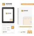wallet business logo tab app diary pvc employee vector image vector image