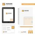 wallet business logo tab app diary pvc employee vector image vector image