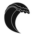 wave icon simple black style vector image vector image