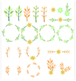 wedding set with flower vector image vector image