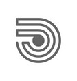 wireless tag and rfid line icon vector image