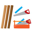wooden sticks and tools vector image vector image
