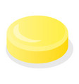 yellow candy jelly icon isometric style vector image vector image